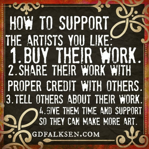 how to support artists