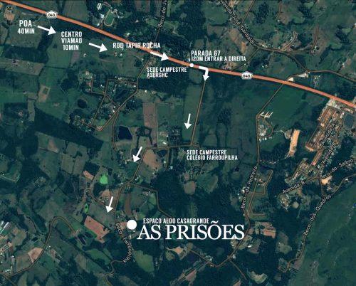 mapa prisoes POA