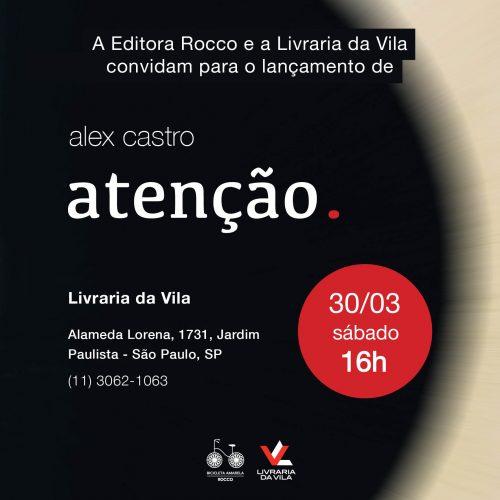 Lançamento SP: 30 de março, Livraria da Vila Lorena, 16h